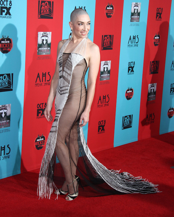 Naomi Grossman attends the premiere of 'American Horror Story: Freak Show' in LA