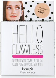 My face tends to get shiny throughout the day, so I always have my pressed powder ready. Benefit's Hello Flawless! Custom Powder Coverup works wonders for me.