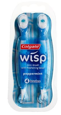 Far better than mints, Wisps are mini-toothbrushes made my Colgate. Use these when you don't have enough time to go back home after dinner and are headed to the library for a long night.