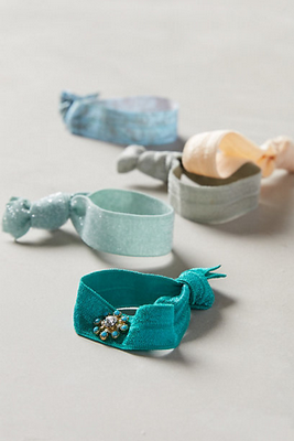 Most girls keep their hair ties on their wrist, but what if a friend needs an extra? These hair ties from Anthropologie are the cutest.