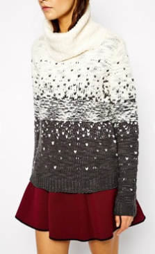 A chunky knit sweater is a must have for winter. Pair it with another texture and you have a dynamite duo.