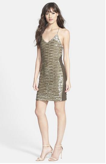 Greylin Alaia Sequin Racerback Body-Con Dress