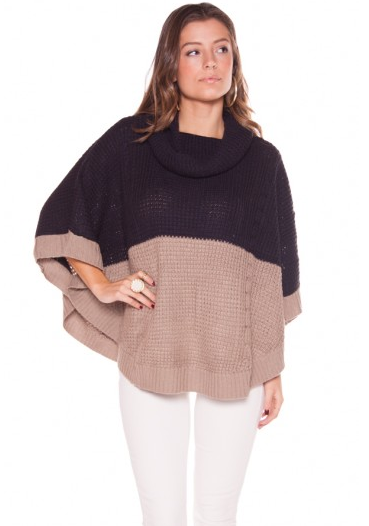 THML by Theme Colorblock Poncho