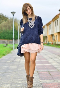 oversized-sweater-over-frills