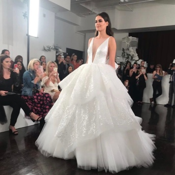 bf60cdc4bc92 Next up is designer Hayley Paige, who revealed her 2019 collection, called  The Oracle. Hayley Paige is known for her tulle princess ball gowns for the  ...